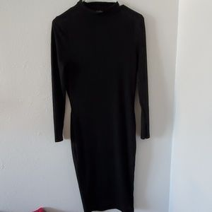 Boohoo High Neck Long Sleeve Dress